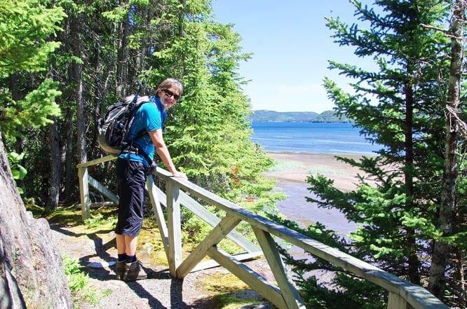 Hiking the easy Coastal Trail in Terra Nova National Park