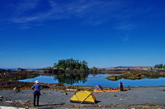 Beautiful camping in Haida Gwaii
