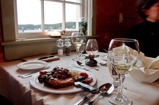 Dining at Twine Loft, Trinity