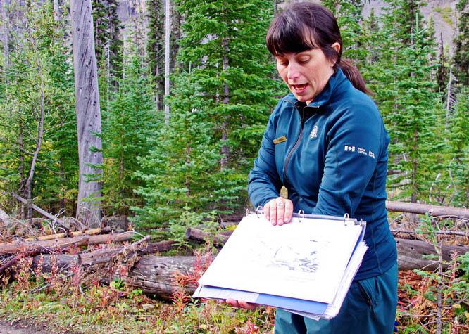 Our guide Claudia providing interpretation services along the trail