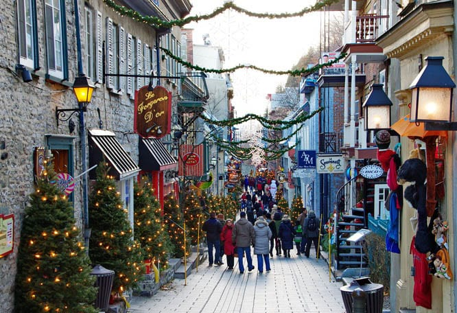 rue de petit champlain is one of the prettiest streets in canada