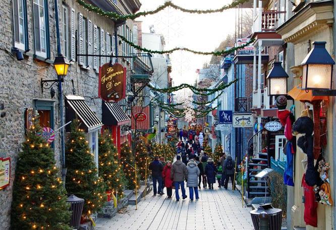 rue de petit champlain is one of the prettiest streets in canada