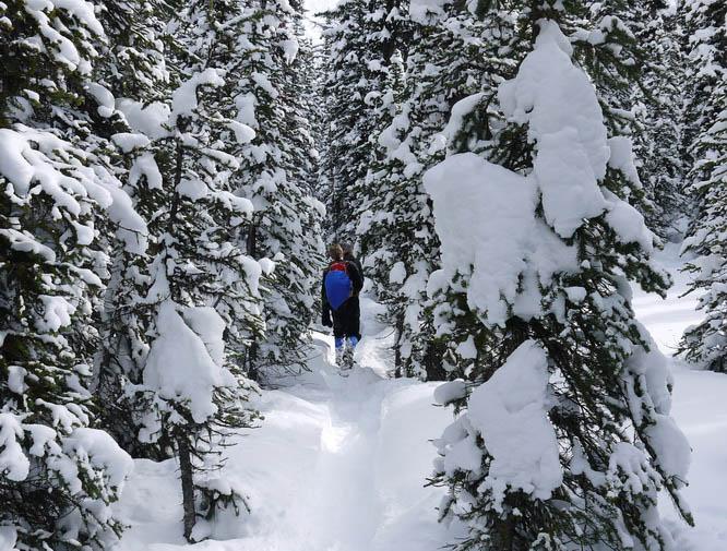 It snows a lot around Rummel Lake
