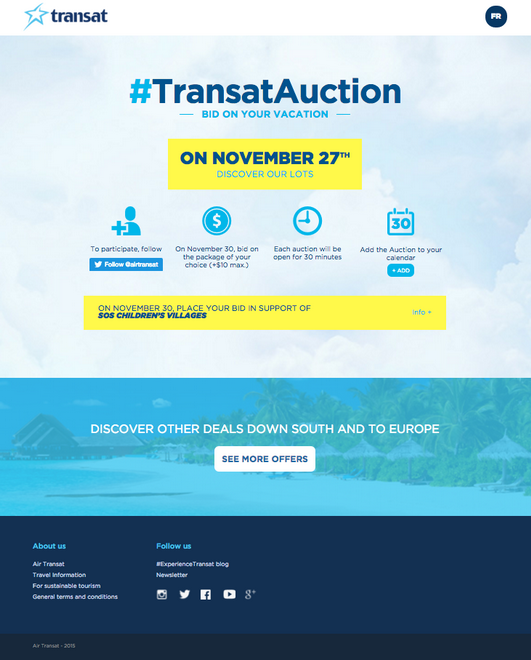 Visual of how the Transat Auction works
