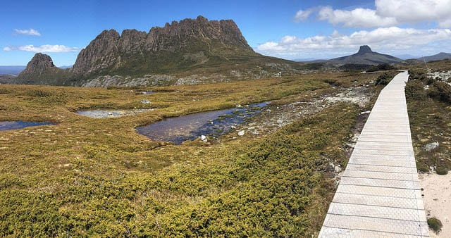 The Overland Trek in Tasmania - with Cradle Mountain in the background Photo credit: Albedo20 on Flickr