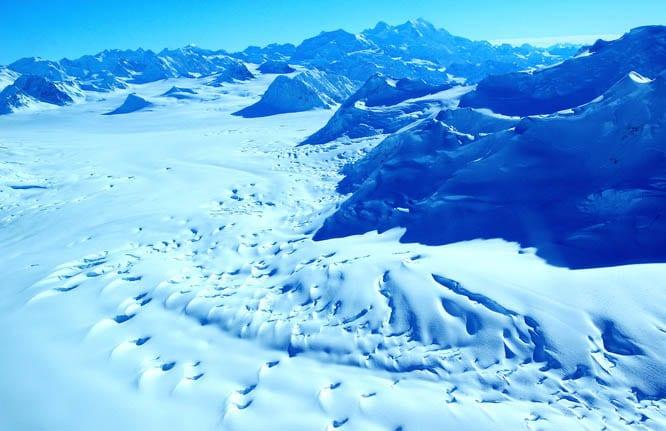 Crevasses galore - Kluane National Park