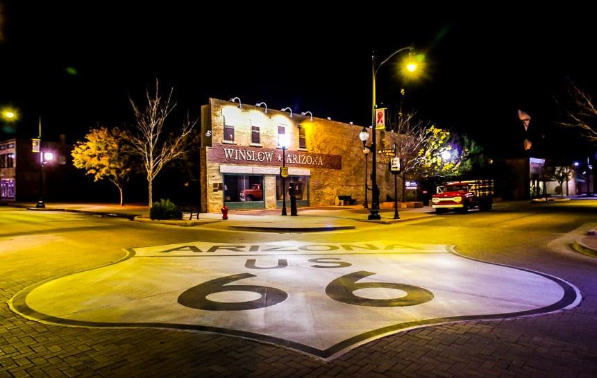 Standin' on the Corner on a Visit to Winslow, Arizona