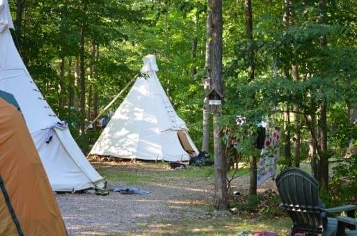 Tipi Camping Manitoulin Island