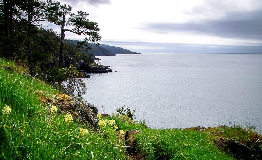 Beautiful scenery on the Coastal Trail in East Sooke Regional Park