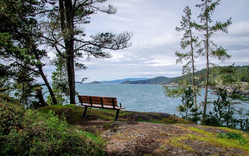 Enjoy a picnic with a view on the Coastal Trail, East Sooke Regional Park