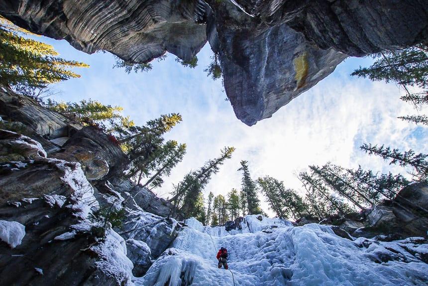 iceclimbing Maligne Canyon