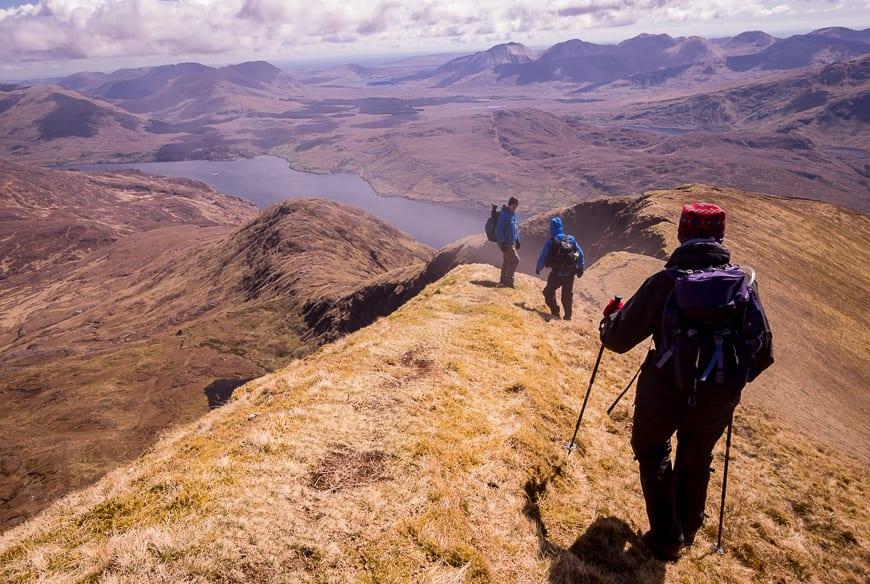 Hiking Mweelrea: Western Ireland's Highest M