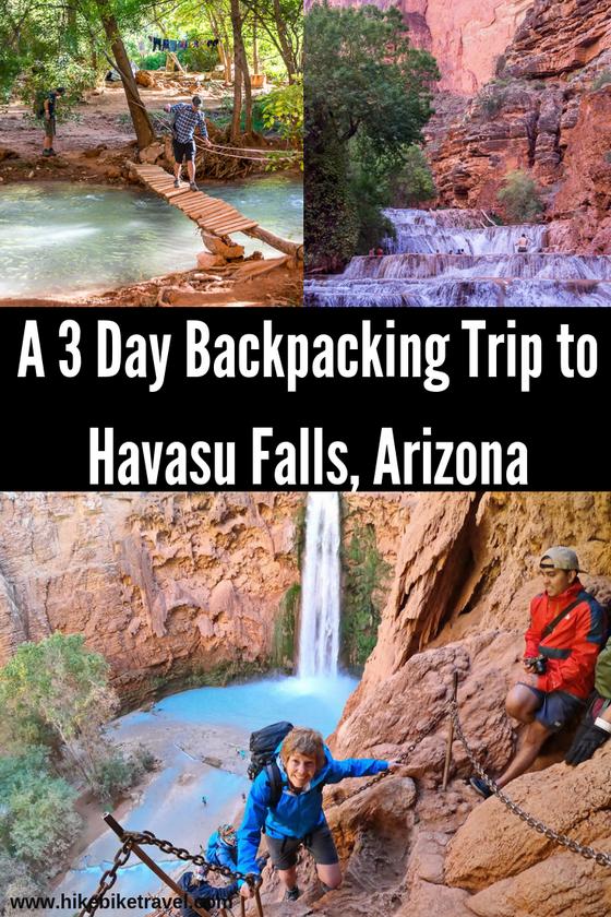 The hike to Havasu Falls